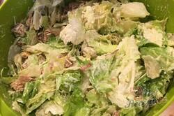 Příprava receptu Cézar salát s kuřecím masem, krok 8