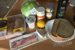 Příprava receptu Cézar salát s kuřecím masem, krok 1