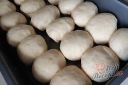 Příprava receptu Domácí kynuté buchty s nutelou, krok 2