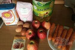 Příprava receptu Rychlý mrkvový koláč s jablky, krok 1