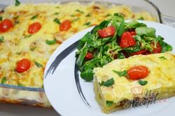 Příprava receptu Rychlý oběd nebo večeře bez smažení. Brambory s mletým masem se sýrovou přikrývkou., krok 9