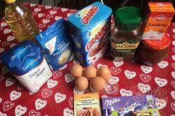 Příprava receptu Šťavnatý Milka koláč s grankem na hrnky, krok 1