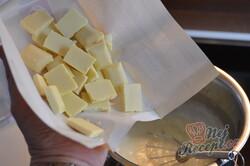 Příprava receptu Dvojitý monte řez s lahodnou mléčnou čokoládou, krok 6
