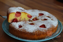 Příprava receptu Extra šťavnatá bublanina s jahodami za pár minut, krok 1