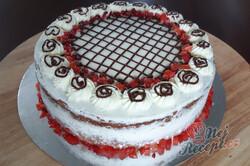 Příprava receptu Fantastický šlehačkový dortík s jahodami, krok 1
