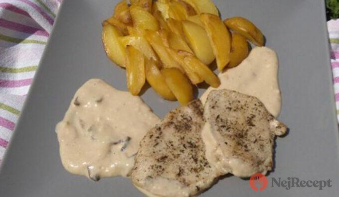 Recept Provensálské kuřecí medailonky na houbové omáčce