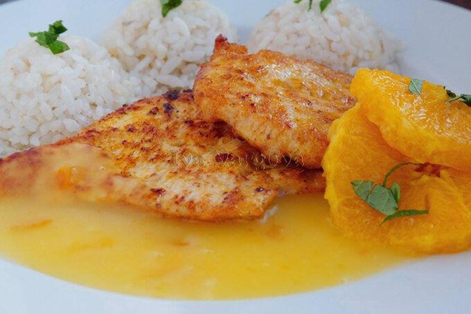 Recept Krůtí prsa v pomerančové omáčce