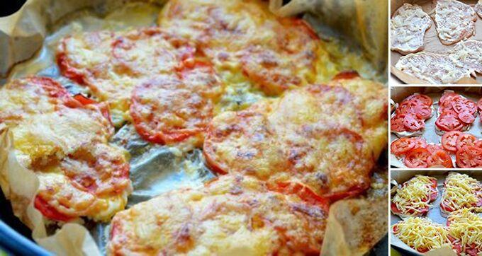 Recept Kuřecí řízky pečené v troubě se sýrovou peřinkou