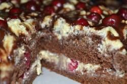 Příprava receptu Chutný dort - třešňový polibek, krok 2