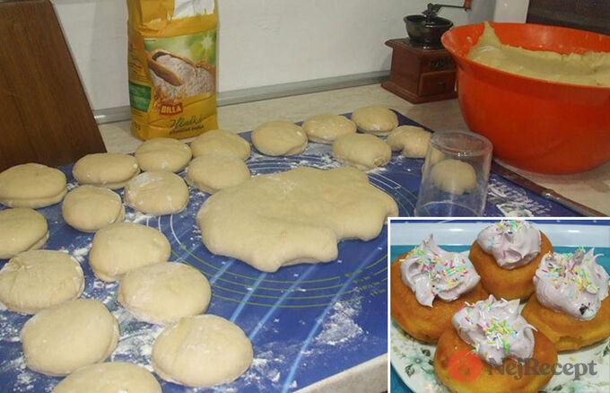 Recept Babiččiny koblihy s bílkovou pěnou