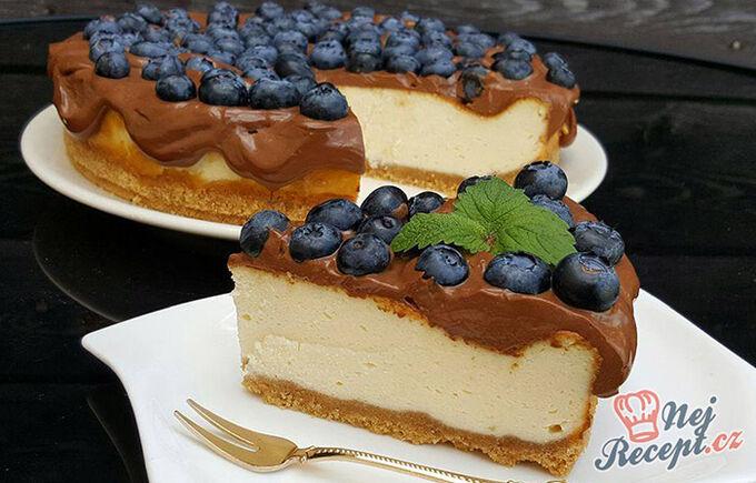 Recept Cheesecake s nejlepší čokoládovou polevou