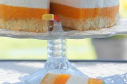 Příprava receptu Svěží jogurtový dort s broskvemi, krok 1