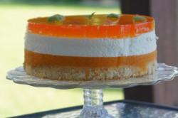 Příprava receptu Svěží jogurtový dort s broskvemi, krok 3