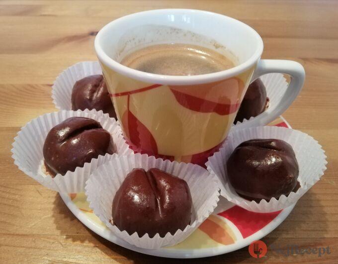 Recept Nepečená kávová zrna v čokoládě