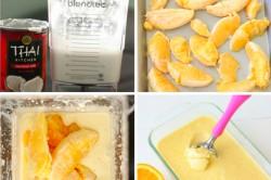 Příprava receptu Pomerančová zmrzlina připravena ze dvou surovin, krok 1