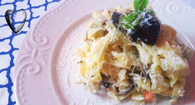 Recept Tagliatelle s ricottou a pečeným lilkem