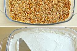 Příprava receptu Ovocný preclíkový dezert se smetanovým krémem, krok 1