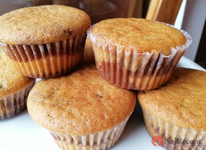 Recept Vláčné muffiny ZEBRA