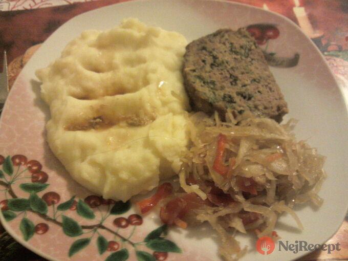 Recept Kapustová sekaná s bramborovou kaší