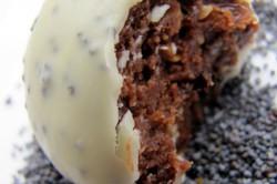 Příprava receptu Super rychlé sušenkové koule v bílé čokoládě s mákem, krok 5