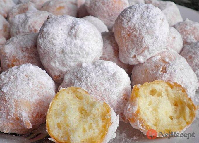 Recept Tvarohové koblížky obalené v cukru