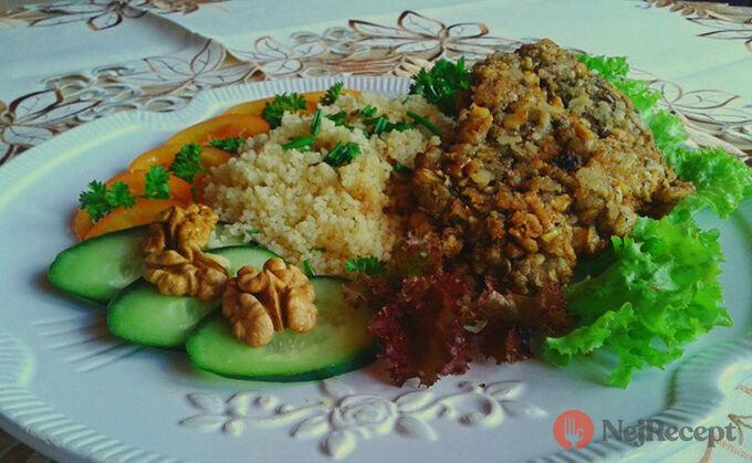 Recept Vepřové medailonky v ořechové krustě s kuskusem