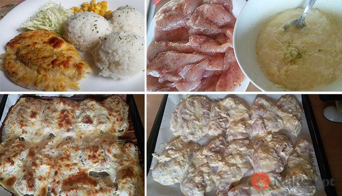 Recept Pečená kuřecí prsa v sýrovém těstíčku