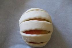 Příprava receptu Vynikající jablíčka v listovém županu s ořechy, krok 3