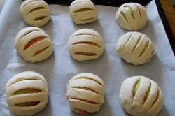 Příprava receptu Vynikající jablíčka v listovém županu s ořechy, krok 4