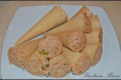 Příprava receptu Smažené kornouty plněné mletým masem, krok 2