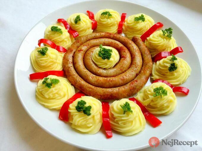 Recept Vinné klobásy s bramborovou kaší