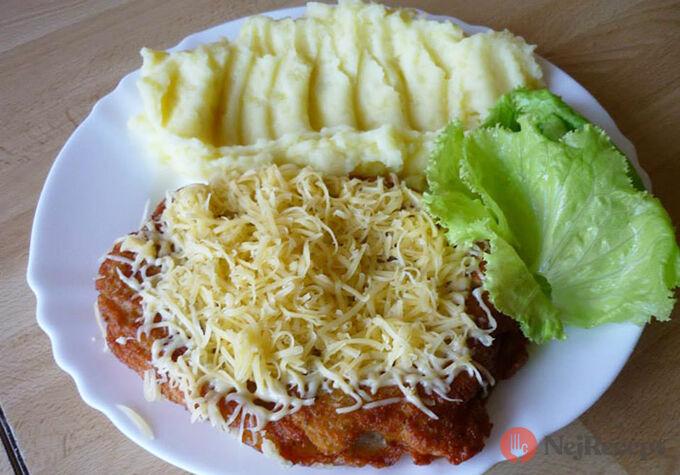 Recept Černohorský řízek s bramborovou kaší