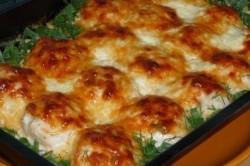 Příprava receptu Zapékané kuřecí kuličky na smetaně, krok 7
