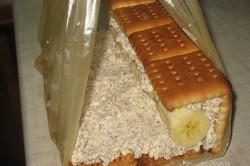 Příprava receptu Nepečený banánový domeček s tvarohem, krok 5