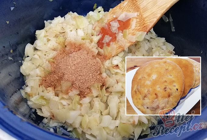 Recept Falešné zelňáky - pšeničné placky plněné zelím