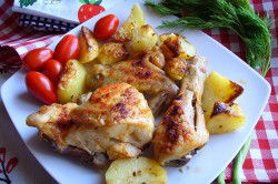 Příprava receptu Pečené kuře s bramborem 2v1, krok 2