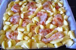 Příprava receptu Pečené kuře s bramborem 2v1, krok 1