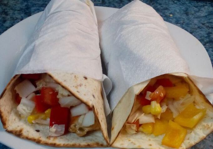 Recept Tortily plněné kuřecím masem a zeleninou