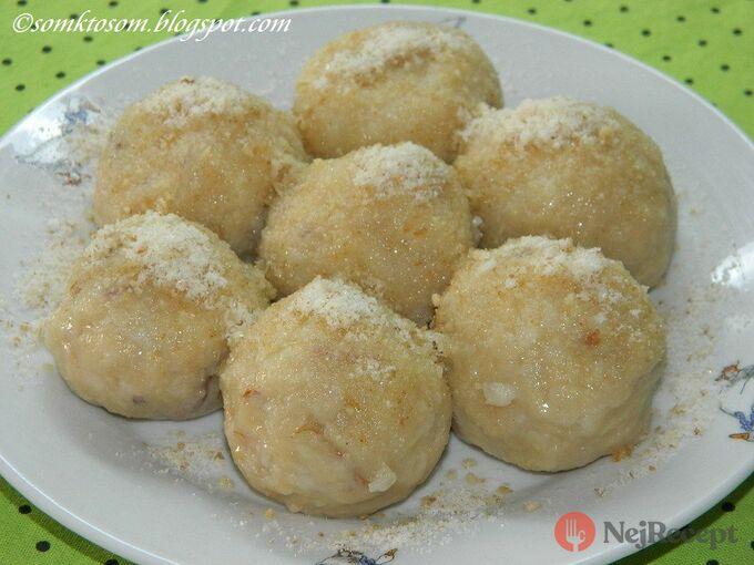 Recept Jablkové knedlíčky bez vajíčka (pouze ze 2 surovin)