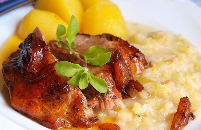 Recept Krůtí pečeně s bramborem