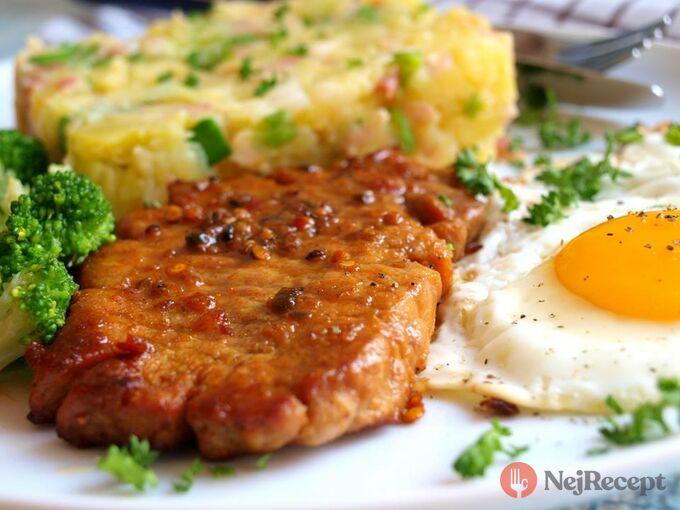 Recept Karé jako minutka se šťouchanými brambory a vejcem