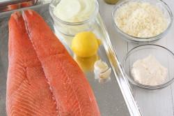 Příprava receptu Pečený losos se sýrovou krustou, krok 1