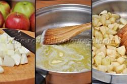 Příprava receptu Čokoládový dort s jablečno-skořicovou nádivkou, krok 2