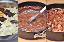 Příprava receptu Čokoládový dort s jablečno-skořicovou nádivkou, krok 3