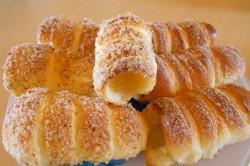 Příprava receptu Trdelníky s ořechovou drobenkou, krok 14