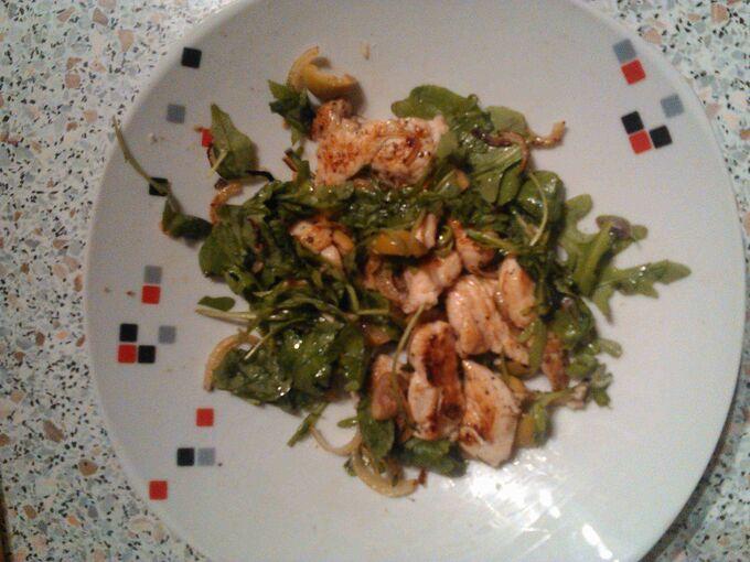 Recept Teplý kuřecí salát s tymiánem