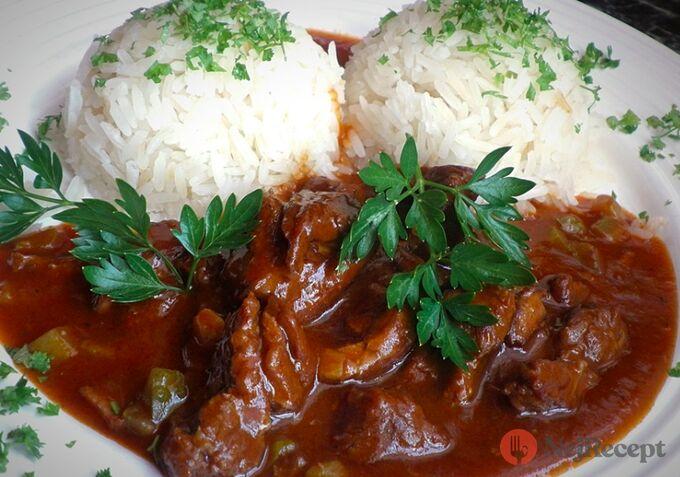 Recept Azu po tatarsku s jasmínovou rýží
