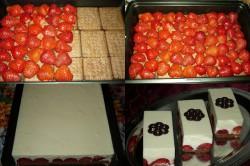 Příprava receptu Nepečené jahodové řezy s pěnou z bílé čokolády, krok 1