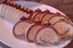 Příprava receptu Roláda z dortových oplatek, krok 13
