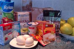 Příprava receptu Výborný jablečný koláč se sněhovou peřinkou, krok 1